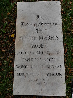 Henry McGee - Brompton Cemetery monument