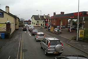Broughton, Lancashire - Image: Broughton cross roads on the A6 geograph.org.uk 1089356