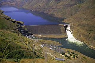 Brownlee Dam Dam in Hells Canyon,Baker Co., Oregon / Washington Co., Idaho