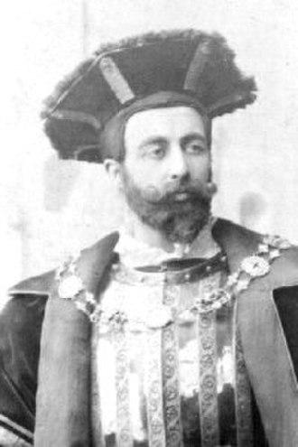 Richard Cholmondeley - Wallace Brownlow portraying Richard Cholmondeley in The Yeomen of the Guard, 1888