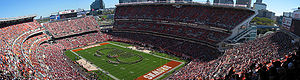Sports in Cleveland - Cleveland Browns games attract large crowds to FirstEnergy Stadium.