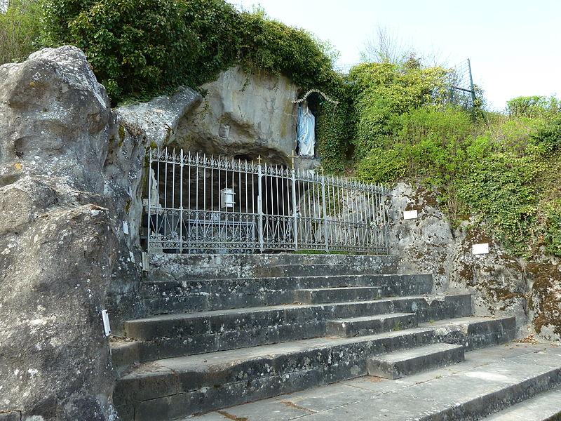 Bruley réplique de la grotte de Lourdes