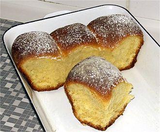 Buchteln - Buchteln in a pan