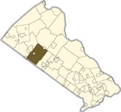 Location of Hilltown Township in Bucks County