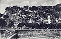 Budapest XI., Szent Gellért rakpart a Szabadság (Ferenc József) hídról nézve, középen a Pálos kolostor épülete. Fortepan 76657.jpg