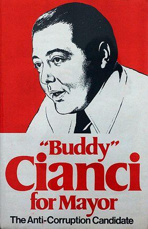 Buddy Cianci - 1974 campaign poster
