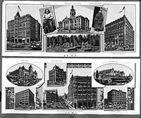 Prominent Seattle buildings circa 1893