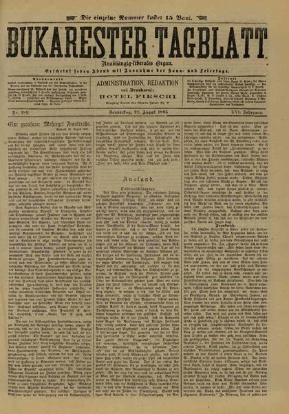 File:Bukarester Tagblatt 1895-08-22, nr. 189.pdf