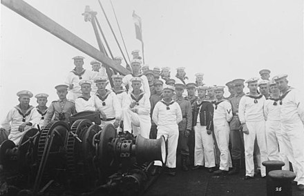 Sailors of the Imperial Navy in Tsingtau, ca 1912 - Imperial German Navy