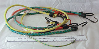 Bungee cord - Bungee cords equipped with metal hooks