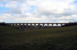 Ayr and Dalmellington Railway - The Burnton Viaduct near Dalrymple in 2008