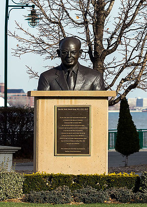 Herb Gray - Bronze bust by sculptor Christopher Rees in Windsor, Ontario