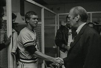 Butch Wynegar - Wynegar (left) with Gerald Ford in 1976