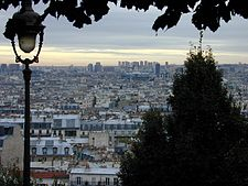 The view from the butte looking towards Centre Georges Pompidou