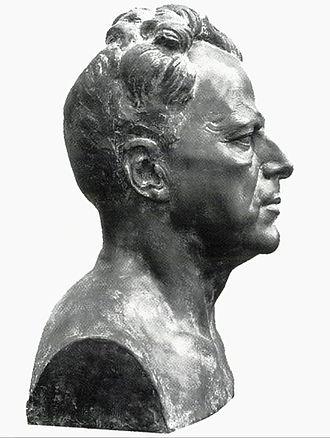 Nikolai Nissen Paus - Image: Byste av Nikolai Nissen Paus