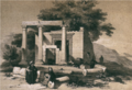 Bziza temple by Lehoux, 1838.png