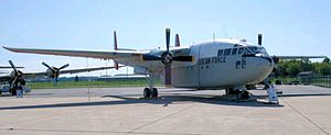 912th Aeronautical Systems Group - C-119 restored in colors of group's parent 512th Troop Carrier Wing