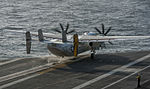C-2A Greyhound launches from USS Carl Vinson 141104-N-TP834-016.jpg
