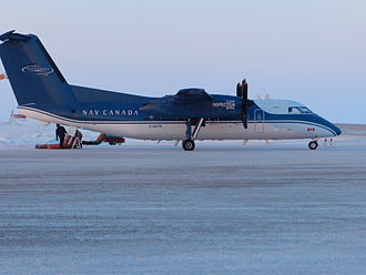 Nav Canada - A de Havilland Canada DHC-8-102 Dash 8 used for flight inspection at Cambridge Bay Airport in 2014