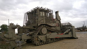 Operation Rainbow - Caterpillar Bulldozer as used by the IDF to demolish homes