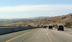 California State Route 118 - CA 118 east of Simi Valley, seen westwards
