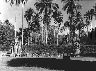 East Java - Statues of Singhasari temple, circa 1910s