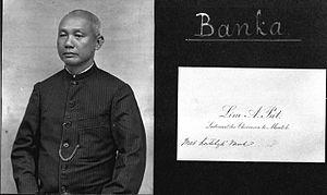 Chinese in Bangka-Belitung Islands - Image: COLLECTIE TROPENMUSEUM Portret van Lim A. Pat Luitenant der Chinezen in Muntok T Mnr 60011467