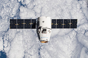 SpaceX CRS-5 - CRS-5 Dragon on approach to the ISS