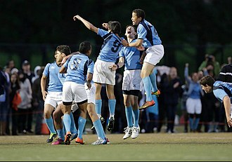 Columbia Secondary School - The CSS boys rugby team celebrates one victory at the 2013 PSAL conference championship.