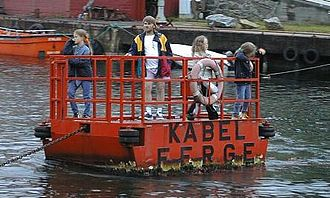 Cable ferry - Coin-operated cable ferry at Espevær in Bømlo, Norway