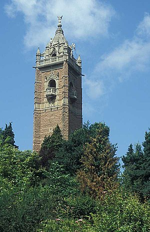 Cabot, Bristol - The tower, viewed from Brandon Hill park.
