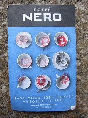 Caffè Nero - Image: Caffé Nero loyalty card completo