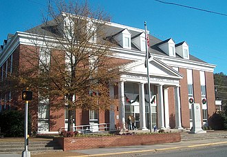 Calhoun, Georgia - 1960 courthouse on the site of former 1880 courthouse