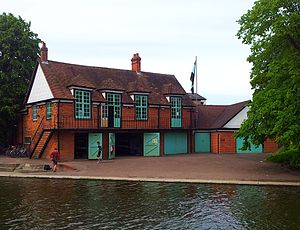 Caius Boat Club - Image: Cambridge boathouses Caius (2)