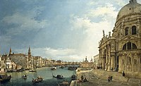 Canaletto (Venice 1697-Venice 1768) - The Grand Canal with Santa Maria della Salute looking East towards the Bacino - RCIN 404397 - Royal Collection.jpg