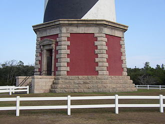 Cape Hatteras Lighthouse - The base of Cape Hatteras Light after relocation.