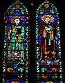 Cappella pulci-berardi, vetrata su disegno di bernardo daddi 03.jpg