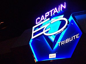 Captain EO - The sign installed for the revival of Captain EO at Disneyland in 2010
