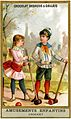 Card depicting two children playing croquet (14058885349).jpg