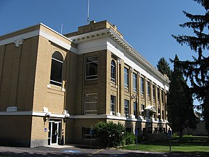 Caribou County, Idaho - Image: Caribou County Courthouse, Soda Springs, Idaho
