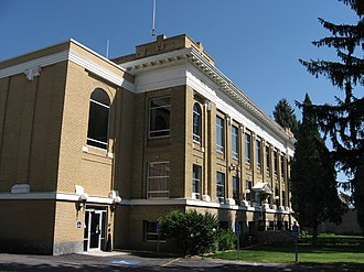 Caribou County, Idaho - Image: Caribou County Courthouse, Soda Springs, Idaho
