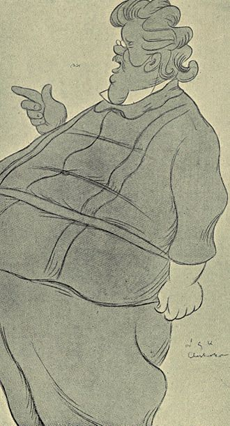 G. K. Chesterton - Caricature of Chesterton, by Max Beerbohm