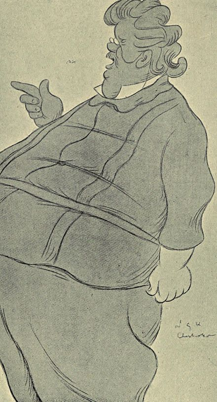 Caricature of Chesterton, by Max Beerbohm Caricature of Chesterton, by Beerbohm.jpg