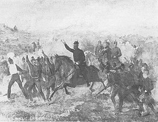 Kronprinz Friedrich in der Schlacht
