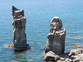 "San Pietro Island - The so-called ""Columns of Carloforte"""