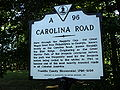 Carolina Road Historic Marker Franklin County Virginia.JPG