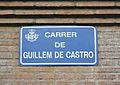 Carrer de Guillem de Castro de València, placa.JPG