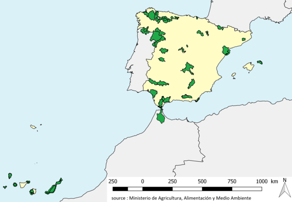 Carte Unesco Espagne.Liste Des Reserves De Biosphere En Espagne Wikipedia