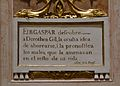 Cartel·la amb la història de Dorotea Gil, capella del beat Gaspar Bono, església de sant Sebastià, València.JPG