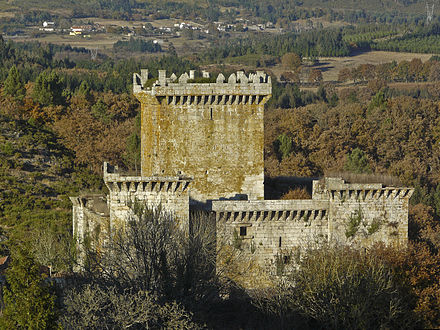 The castle of Pambre, Palas de Rei, which resisted the Irmandinos troops Castelo de Pambre 2.JPG